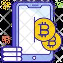 Bitcoin Transaction Bitcoin Account Online Bitcoin Icon