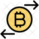 Bitcoin Transaction Transaction Right And Left Icon