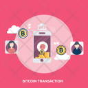 Bitcoin Transaction Finance Icon