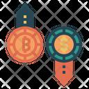 Bitcoin Transaction Transaction Business Icon