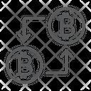 Bitcoin Transaction Money Icon
