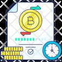 Bitcoin Payment Bitcoin Transaction Time Bitcoin Confirmation Icon