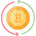 Transaction Exchange Bitcoin Icon