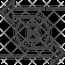 Bitcoin Transfer Transfer Bitcoin Icon