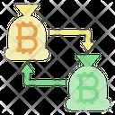Bitcoin Transfer Exchange Money Icon