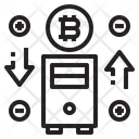 Bitcoin Treading Icon