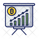 Bitcoin Trend Chart Trading Icon