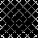 Bitcoin Triangle Icon