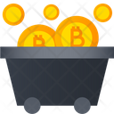 Bitcoin Trolley Cart Cryptocurrency Cart Icon