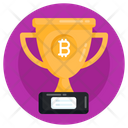 Business Trophy Bitcoin Trophy Bitcoin Award Icon
