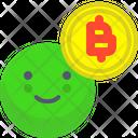 Bitcoin Happy Happy Bitcoin Icon
