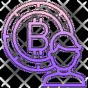 Admin Bitcoin User Bitcoin Account Icon
