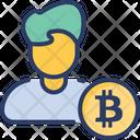 Bitcoin User Consumer Icon