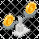 Bitcoin Value Money Balance Currency Balance Icon
