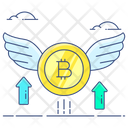 Bitcoin Value Currency Value Cryptocurrency Value Icon