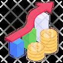 Bitcoin Analytics Bitcoin Growth Bitcoin Value Icon