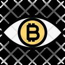 Bitcoin Vision Bitcoin Eye Icon