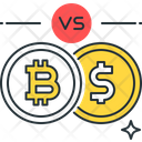 Bitcoin Vs Dollar Vs Bitcoin Icon