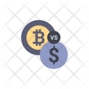 Bitcoin Dollar Compare Icon
