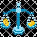 Bitcoin Vs Dollar Bitcoin Over Dollar Currency Value Icon