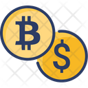 Dollar Bitcoin Finance Icon