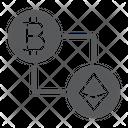 Bitcoin Vs Ethereum Icon