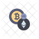 Bitcoin vs ethereum Icon