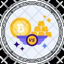 Gold Vs Bitcoin Vs Gold Icon