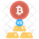Bitcoin VS Gold Icon