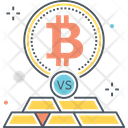 Bitcoin Vs Gold Icon