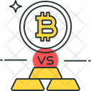 Bitcoin Vs Gold Bitcoin Gold Biscuit Icon