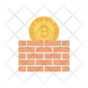 Bitcoin Wall Cryptocurrency Icon