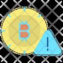 Warn Alert Bitcoin Warning Sign Alert Bitcoin Icon