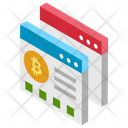 Bitcoin Web Bitcoin Website Electronic Cash Icon
