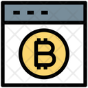 Bitcoin Web Online Bitcoin Website Icon