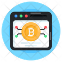 Online Bitcoin Bitcoin Web Digital Currency Icon