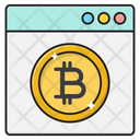 Webpage Bitcoin Currency Icon
