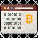 Bitcoin Website Electronic Cash Online Bitcoin Icon