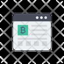 Browser Bitcoin Web Icon