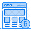 Bitcoin Website Electronic Cash Online Cryptocurrency Icon