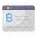 Bitcoin Website Online Cryptocurrency Bitcoin Account Icon