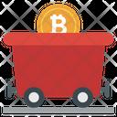 Bitcoin Wheelbarrow Bitcoin Mining Blockchain Icon