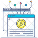 Electronic Cash Bitcoin White Paper Cryptocurrency Icon