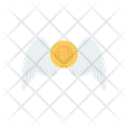 Bitcoin Fly Wings Icon