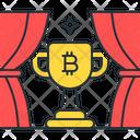 Bitcoin Trophy Award Achievement Icon