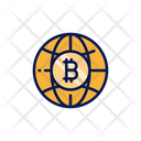 Bitcoin World Bitcoin Crypto Icon