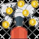 Bitcoin World Cryptocurrency Crypto World Icon