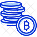 Bitcoins Coins Currency Icon