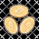Bitcoins Money Cryptocurrency Icon