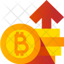 Bitcoins Up Arrow Icon